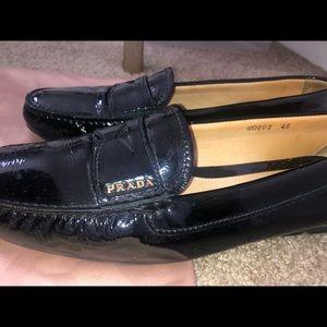 Prada loafers slides flats.